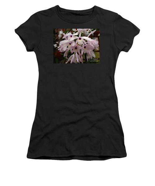 Women's T-Shirt (Junior Cut) featuring the photograph Orchids Beauty by Donna Brown