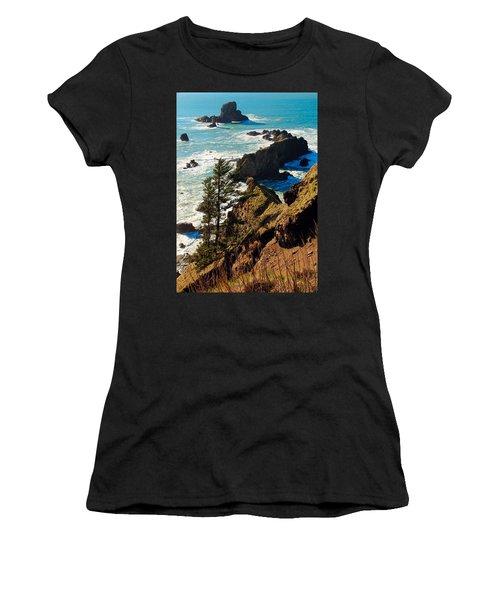 Women's T-Shirt (Junior Cut) featuring the photograph Oregon Coast by Athena Mckinzie