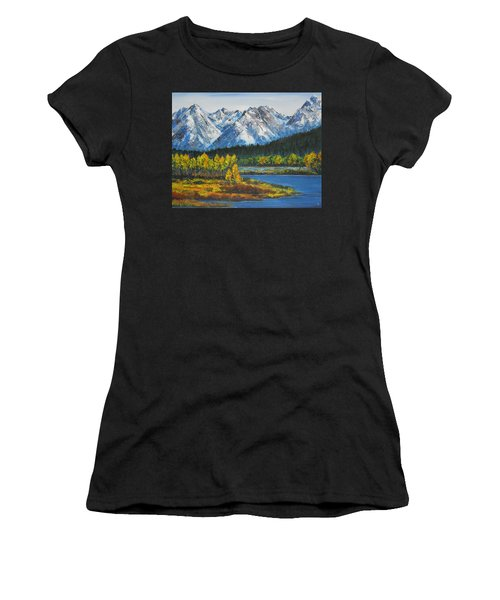 Oxbow-grand Tetons  Women's T-Shirt (Athletic Fit)