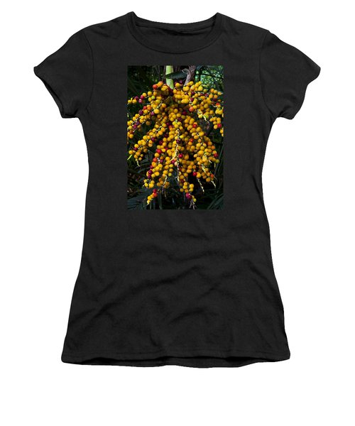 Women's T-Shirt (Junior Cut) featuring the photograph Palm Seeds Baroque by Steven Sparks
