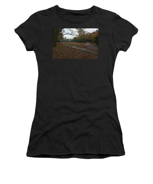 Women's T-Shirt (Junior Cut) featuring the photograph Park Cottage 2 by Maj Seda