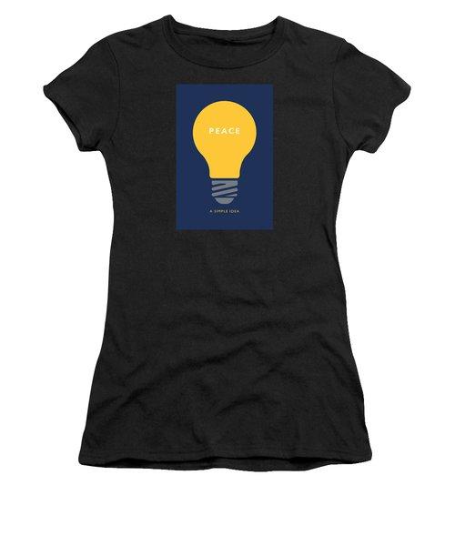Peace A Simple Idea Women's T-Shirt (Athletic Fit)