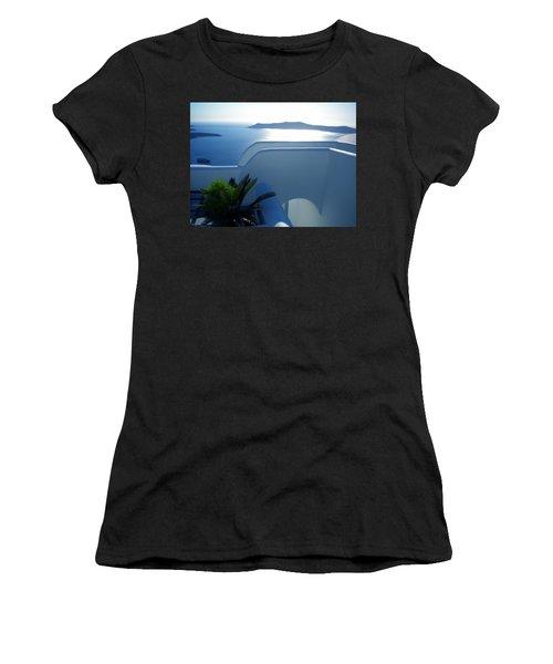 Peaceful Sunset Santorini Women's T-Shirt
