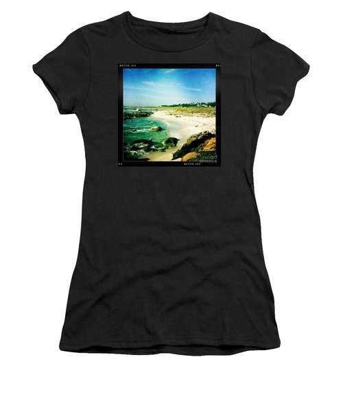 Women's T-Shirt (Junior Cut) featuring the photograph Pebble Beach by Nina Prommer