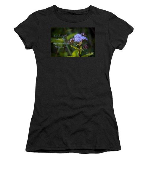Philippians Verse Women's T-Shirt (Athletic Fit)