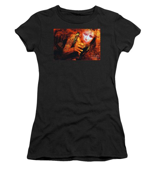 Picnic In The Forest Women's T-Shirt (Junior Cut) by Clayton Bruster