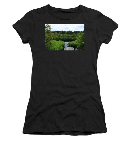 Pine Hole Pond Women's T-Shirt (Athletic Fit)