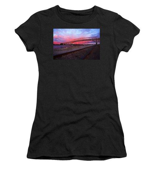 Women's T-Shirt (Junior Cut) featuring the photograph Pink And Blue by Gordon Dean II