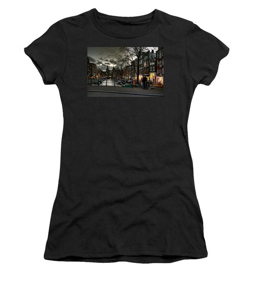 Prinsengracht And Spiegelgracht. Amsterdam Women's T-Shirt (Athletic Fit)