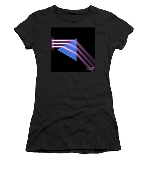 Women's T-Shirt (Junior Cut) featuring the digital art Prism 1 by Russell Kightley