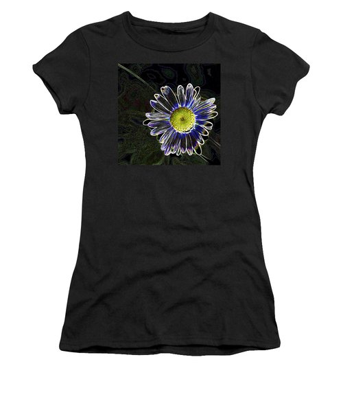 Psychedelic Daisy Women's T-Shirt (Athletic Fit)