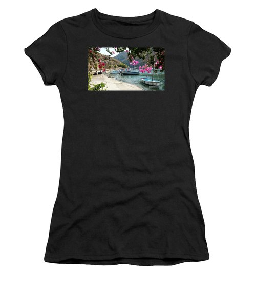 Quiet Cove Women's T-Shirt (Junior Cut) by Therese Alcorn
