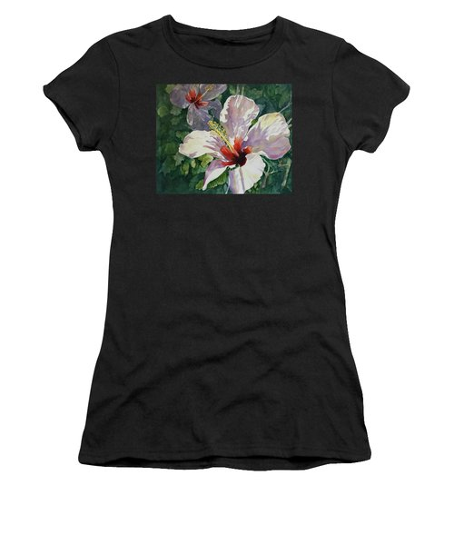 Radiant Light - Hibiscus Women's T-Shirt (Athletic Fit)