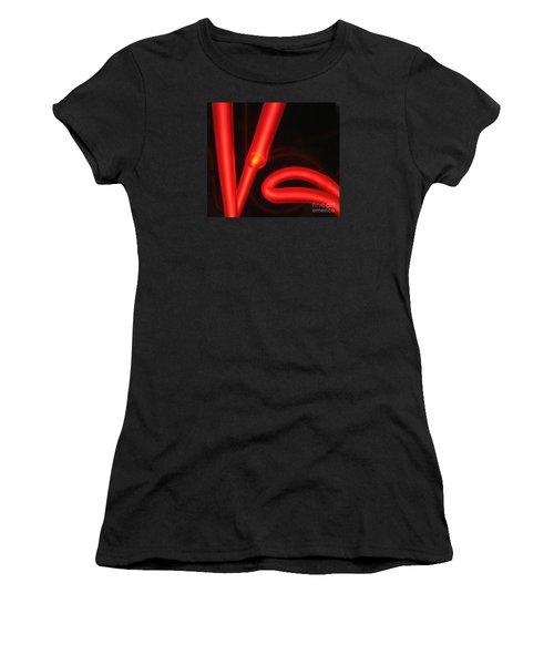 Red Neon Women's T-Shirt (Junior Cut) by John King