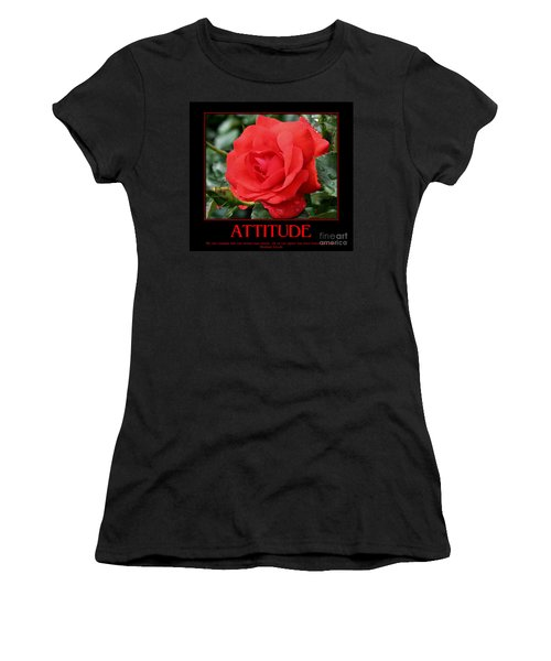 Red Rose Attitude Women's T-Shirt (Athletic Fit)