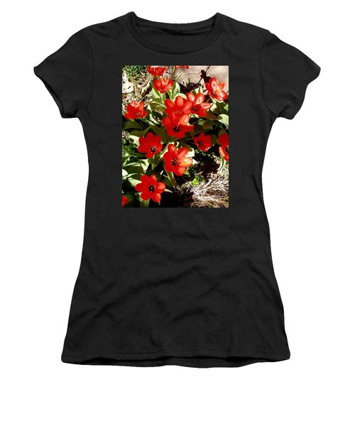 Women's T-Shirt (Junior Cut) featuring the photograph Red Tulips by David Pantuso