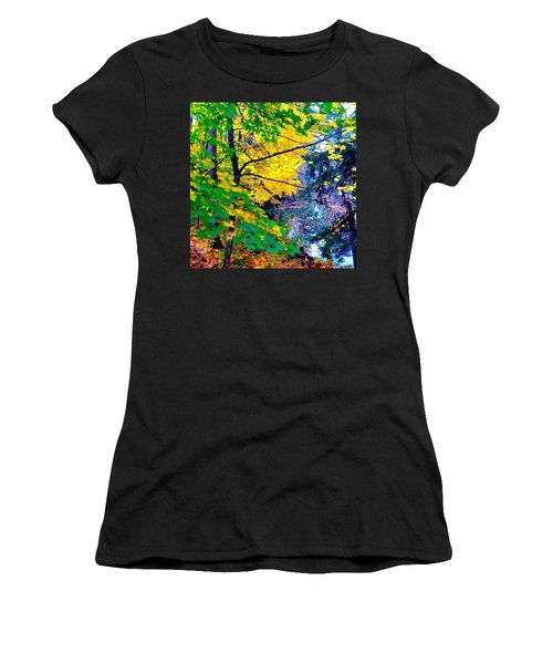 Reed College Canyon Fall Leaves II Women's T-Shirt (Athletic Fit)