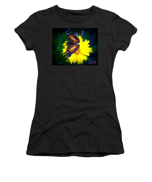 Resting Butterfly Women's T-Shirt (Junior Cut) by Kevin Fortier