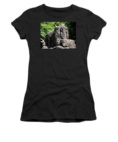 Women's T-Shirt (Junior Cut) featuring the photograph Rock Formation by Maria Urso
