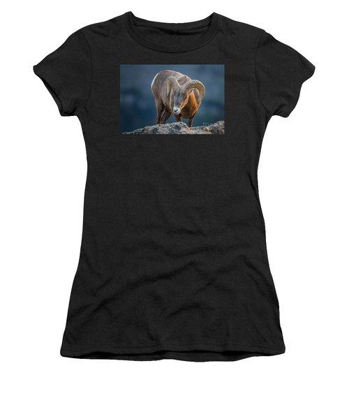 Rocky Mountain Big Horn Ram Women's T-Shirt (Athletic Fit)