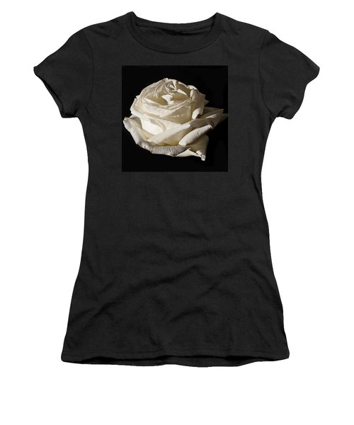 Women's T-Shirt (Junior Cut) featuring the photograph Rose Silver Anniversary by Steve Purnell