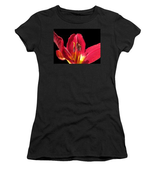 Women's T-Shirt (Junior Cut) featuring the photograph Royal Red by Debbie Portwood