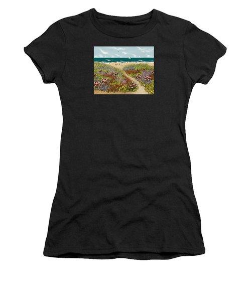 Sand Path Women's T-Shirt (Athletic Fit)