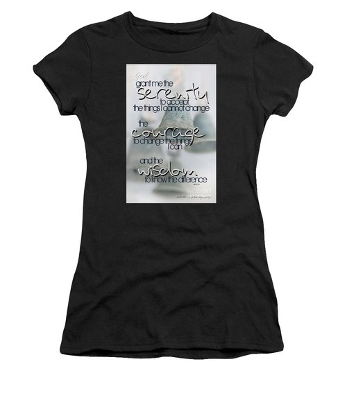 Serenity Prayer With Bells Women's T-Shirt (Athletic Fit)