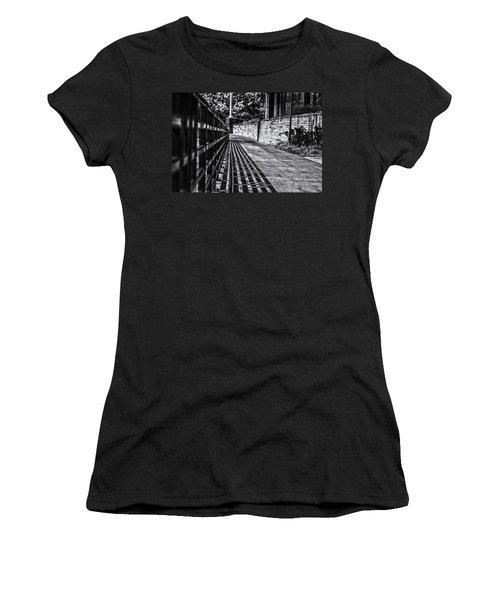Women's T-Shirt (Junior Cut) featuring the photograph Shadow Walk by Tom Gort