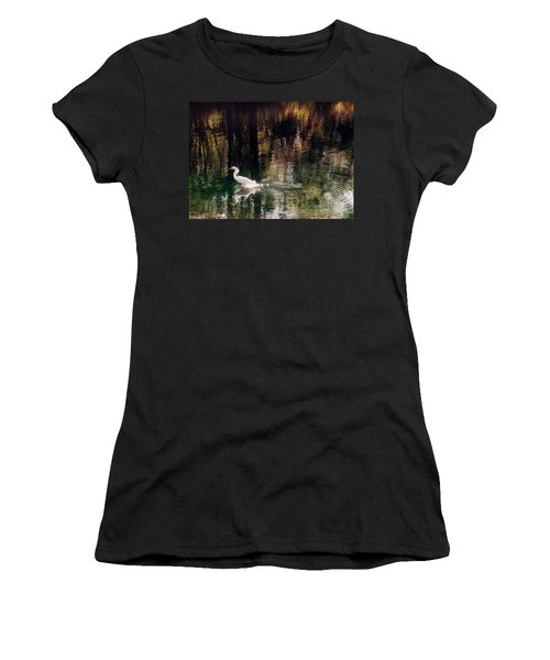 Women's T-Shirt (Junior Cut) featuring the photograph Shadowwaters by Lydia Holly