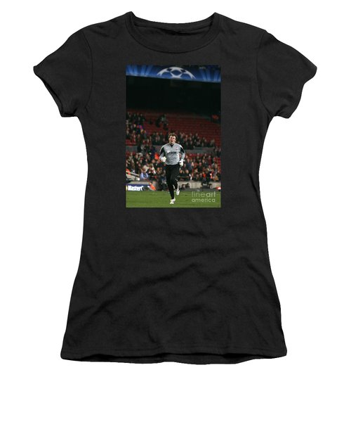 Women's T-Shirt featuring the photograph Shaktars Goalkeeper 2 by Agusti Pardo Rossello