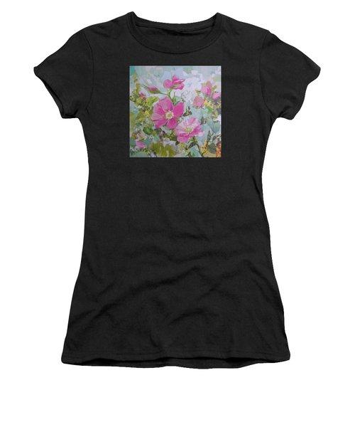Shrub Roses Women's T-Shirt (Athletic Fit)