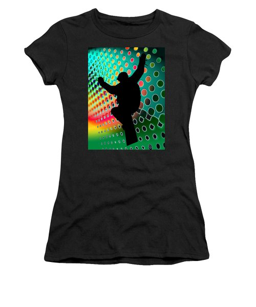 Snowboard In Cosmic Snowstorm Women's T-Shirt