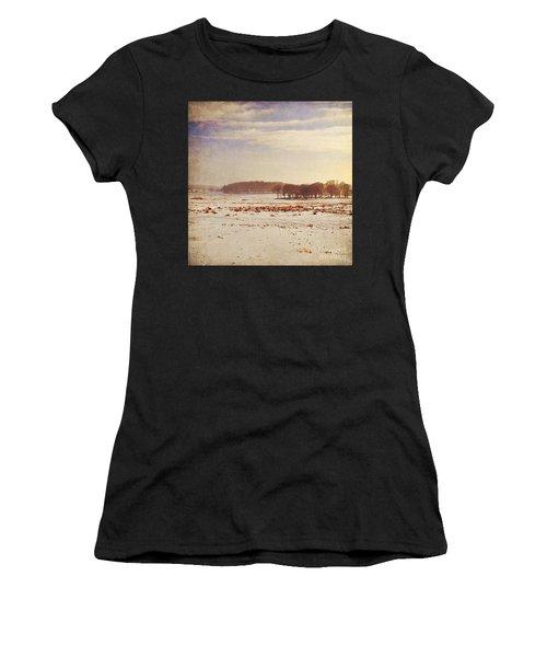 Snowy Landscape Women's T-Shirt (Athletic Fit)