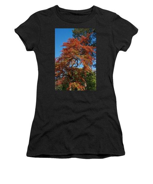 Women's T-Shirt (Junior Cut) featuring the photograph Soaring Fall by Joseph Yarbrough