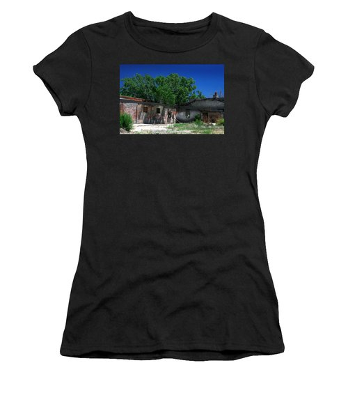 Women's T-Shirt (Junior Cut) featuring the photograph Somewhere On Hwy 285 Number Three by Lon Casler Bixby
