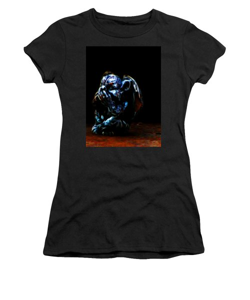 Speak No Evil Gargoyle Women's T-Shirt (Athletic Fit)