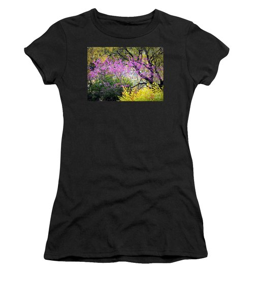 Spring Trees In San Antonio Women's T-Shirt (Athletic Fit)