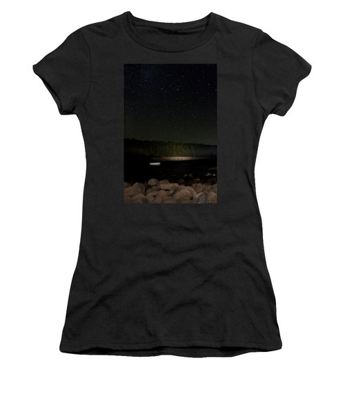 Stars Over Otter Cove Women's T-Shirt (Junior Cut) by Brent L Ander