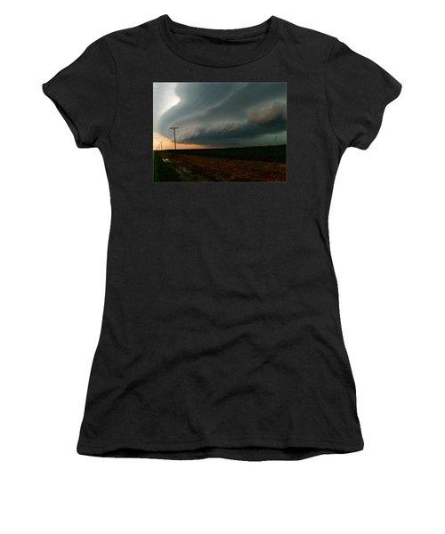 Women's T-Shirt (Junior Cut) featuring the photograph Storm Front by Debbie Portwood