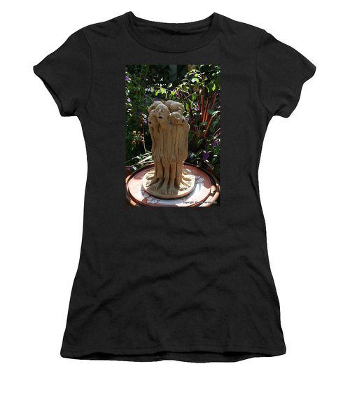 Suffering Circle Ceramic Sculpture Brown Clay  Women's T-Shirt (Athletic Fit)