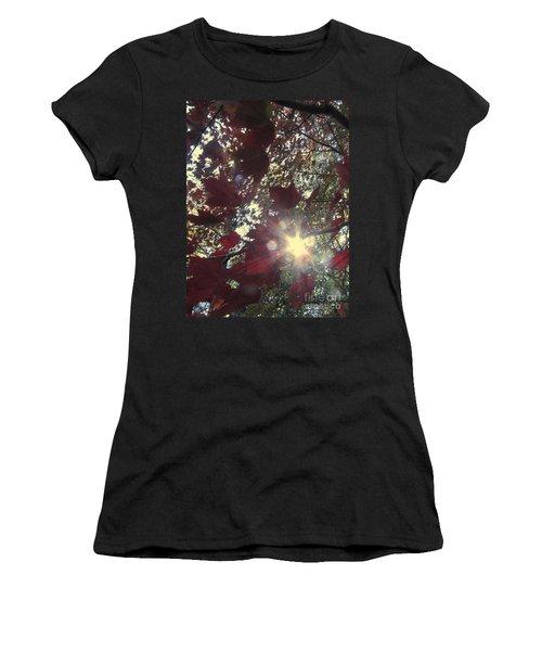 Women's T-Shirt (Junior Cut) featuring the photograph Sun Shine Through by Donna Brown