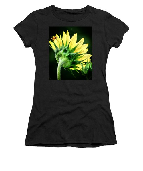 Sunflower With Bee Women's T-Shirt (Junior Cut) by Lynne Jenkins