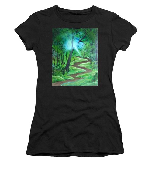 Sunlight In The Forest Women's T-Shirt (Athletic Fit)