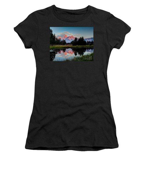 Sunrise On The Tetons Women's T-Shirt (Athletic Fit)
