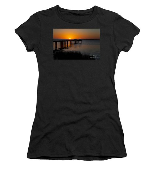 Sunset Across Currituck Sound Women's T-Shirt