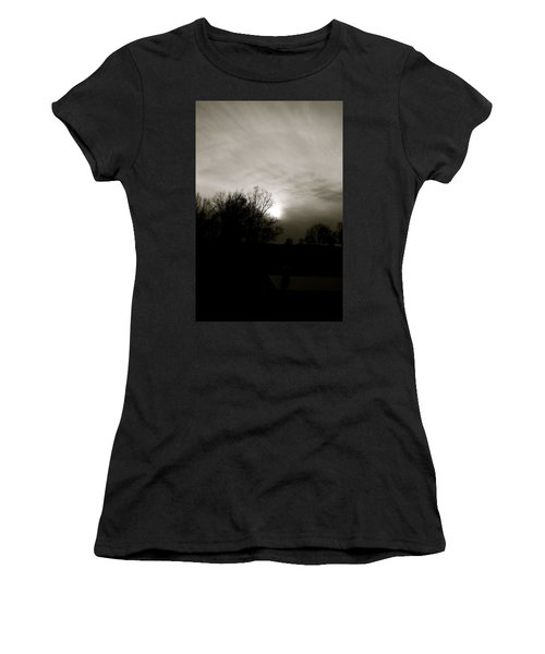 Women's T-Shirt (Junior Cut) featuring the photograph Sunset by Kume Bryant