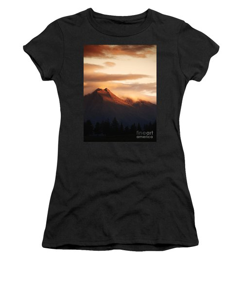 Sunset Mountain Women's T-Shirt (Athletic Fit)