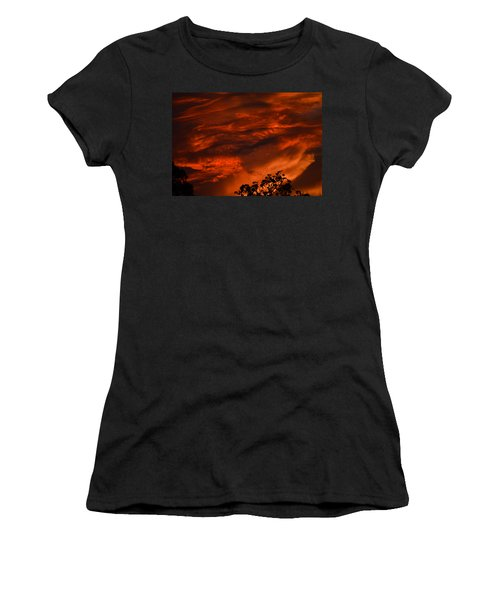 Women's T-Shirt (Junior Cut) featuring the photograph Sunset Over Altoona by DigiArt Diaries by Vicky B Fuller