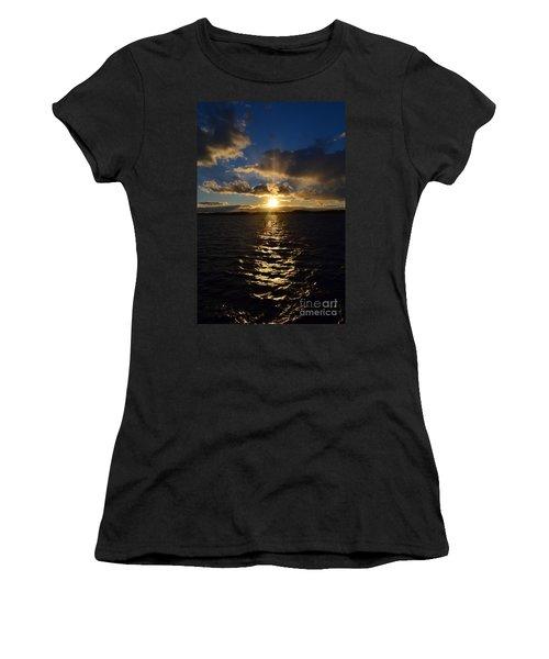 Sunset Over Winnepesaukee Women's T-Shirt (Junior Cut) by Kevin Fortier